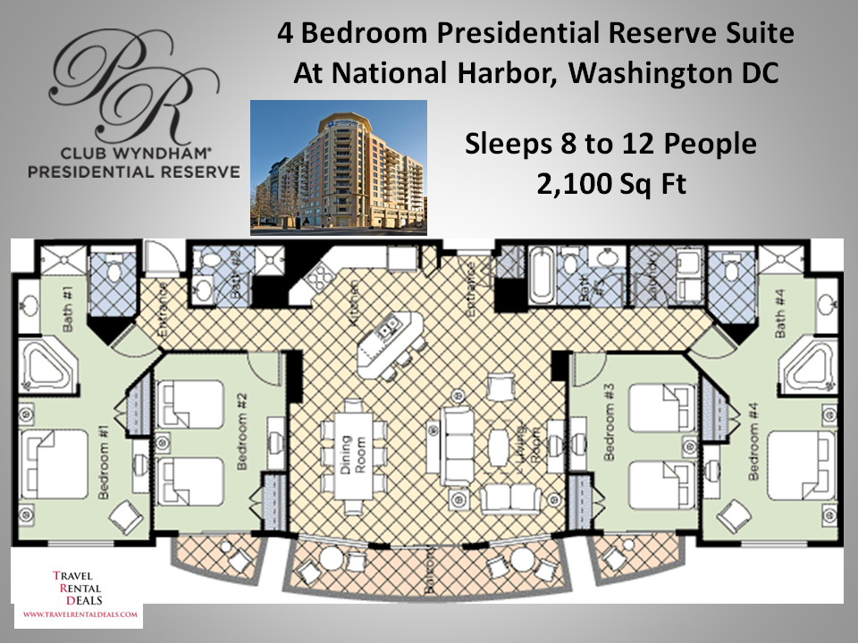 Wyndham national harbor 3 bedroom presidential bedroom review design for 3 bedroom suites in washington dc